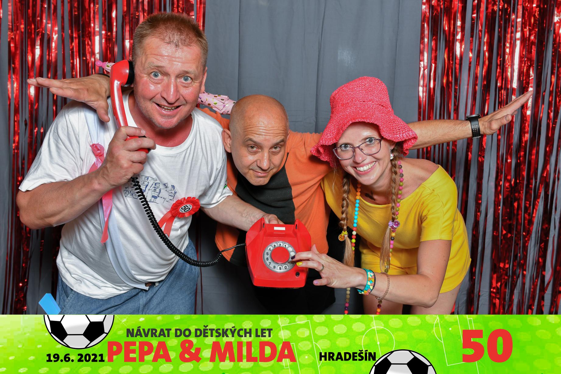 Oslava narozenin Pepa a Milda